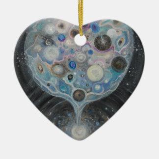 Kunst-Druck Keramik Herz-Ornament