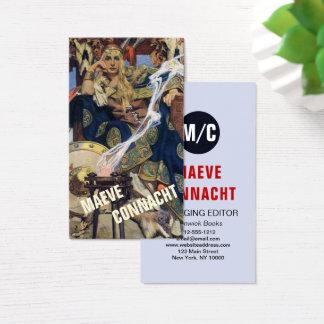 Kunst-Druck-kundenspezifisches Schablonen-Geschäft Visitenkarte