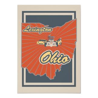 Kunst-Druck Lexingtons, Ohio - Reise-Grafik 12,7 X 17,8 Cm Einladungskarte