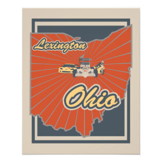 Kunst-Druck Lexingtons, Ohio - Reise-Plakat Fotodruck
