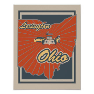Kunst-Druck Lexingtons, Ohio - Reise-Plakat Poster