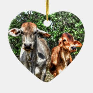 KUNST-EFFEKTE KUH-LÄNDLICHE QUEENSLANDS AUSTRALIEN KERAMIK Herz-Ornament