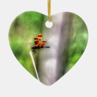 KUNST-EFFEKTE LIBELLEN-LÄNDLICHE QUEENSLANDS KERAMIK Herz-Ornament
