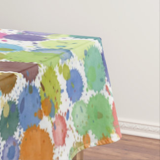 Kunst-Farben-Spritzer des Tischdeckefrühlinges Tischdecke