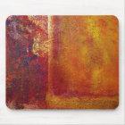 Kunst-Farbfeld-orange Rot-gelbes Gold Mousepad