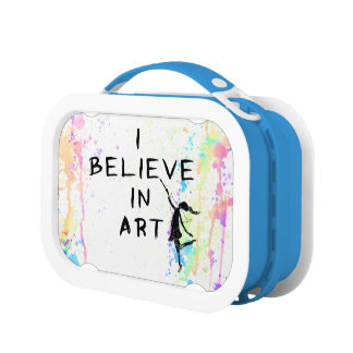 Kunst-Fee: Ich glaube an Kunst-Aquarell-Lauf Brotdose
