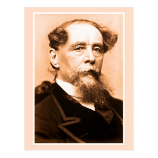 Kunst-Foto Charles Dickens Postkarte
