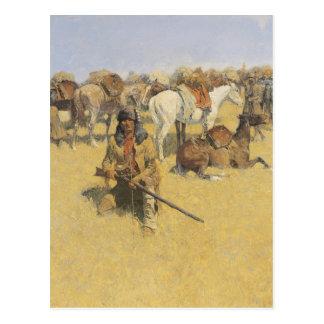 Kunst Frederic Remington Postkarte