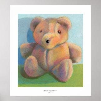 Kunst für KinderTeddybärspaß-Plüsch-Plüschtier Plakat