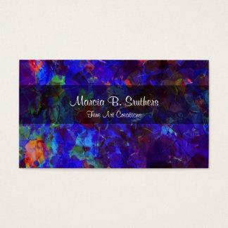 Kunst-Galerie abstraktes Businesscards Visitenkarte