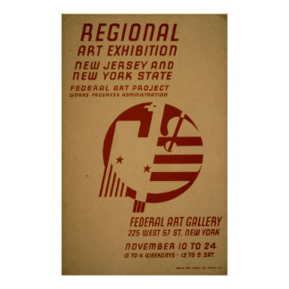 Kunst-Galerie-Ausstellung New-Jersey Vintages WPA Poster
