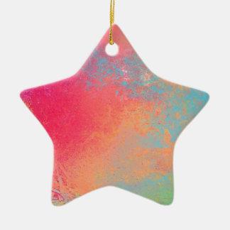 Kunst gefärbtes abstraktes Spray Keramik Ornament
