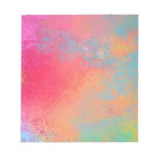 Kunst gefärbtes abstraktes Spray Notizblock