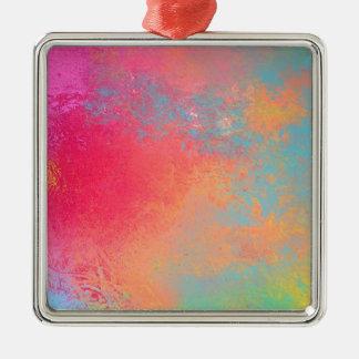 Kunst gefärbtes abstraktes Spray Silbernes Ornament
