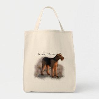 Kunst-Geschenke Airedales Terrier Tragetasche