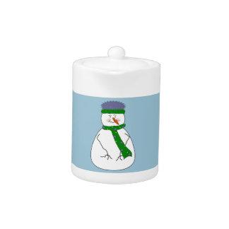 Kunst Herr-Snowman Cute Whimsical Primitive