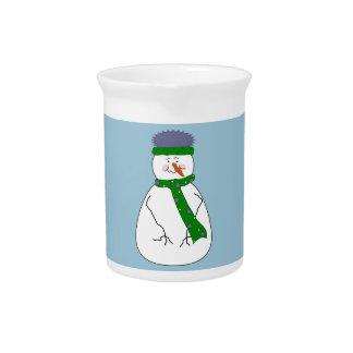 Kunst Herr-Snowman Cute Whimsical Primitive Krug