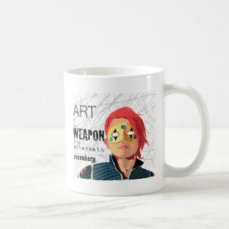 Kunst ist die Waffe Kaffeetasse