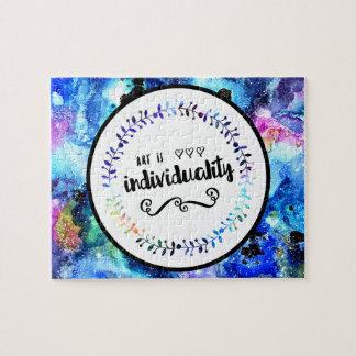 Kunst ist Individualität Puzzle