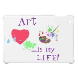 Kunst ist mein LEBEN! Gemaltes Herz/Palette iPad Mini Hülle
