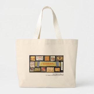 """""""Kunst ist nicht…"""" Collagen-Kunsttasche Patty O'Ro Einkaufstaschen"""