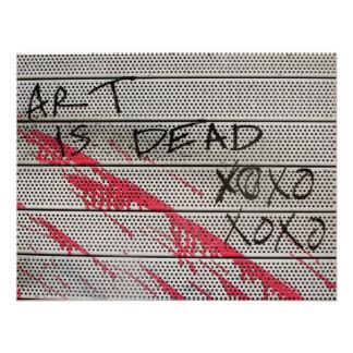Kunst ist tot einladungskarte