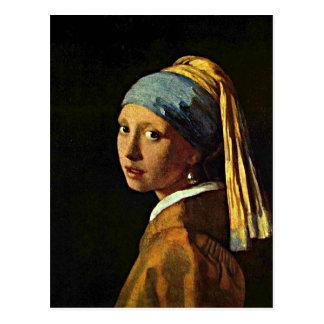 Kunst Johannes Vermeer - Mädchen mit einem Postkarte