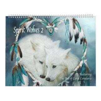 Kunst-Kalender der Geist-Wolf-2 Abreißkalender