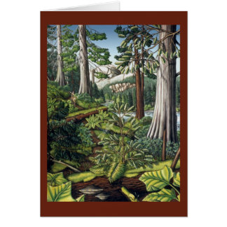 Kunst kardiert kanadische Landschaftspersonalisier Karte