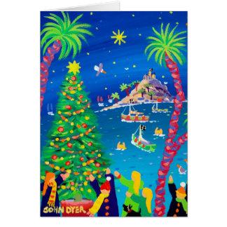 Kunst-Karte: Berg-Bucht-Weihnachten Karte