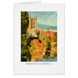 Kunst-Karte - Hereford Kathedrale Karte