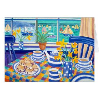 Kunst-Karte: Kornischer Teatime (kornisches Blau) Karte