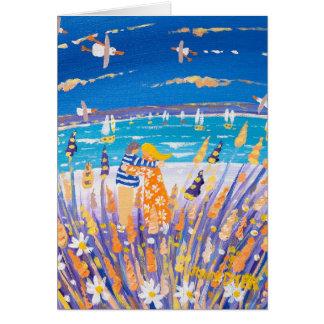 Kunst-Karte: Liebe auf dem Strand Karte
