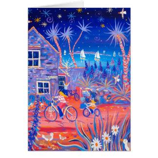 Kunst-Karte: Magischer Abend, Strand-Hütte, Tresco Karte