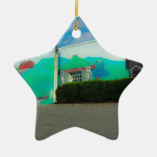 Kunst Keramik Stern-Ornament