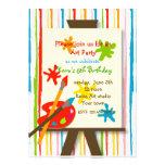 Kunst macht Malerei-Geburtstags-Party Einladungen