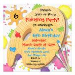 Kunst-Malerei-Geburtstags-Party Einladungen