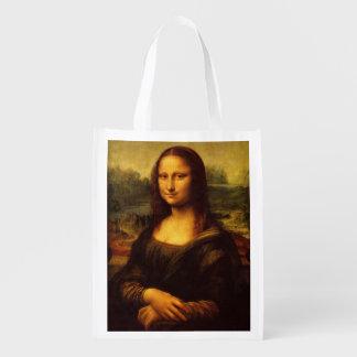 Kunst-Malerei Leonardo da Vincis Mona Lisa Wiederverwendbare Einkaufstasche