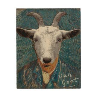 Kunst-Malerei Vincents Van Goat Parody Holzleinwand