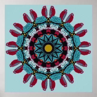 Kunst-Mandala-Plakat Poster