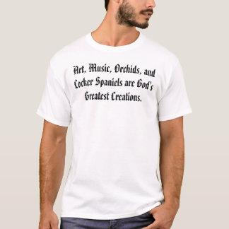 Kunst, Musik, Orchideen und Cockerspaniel-Spaniels T-Shirt