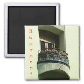 Kunst Nouveau Balkon Quadratischer Magnet