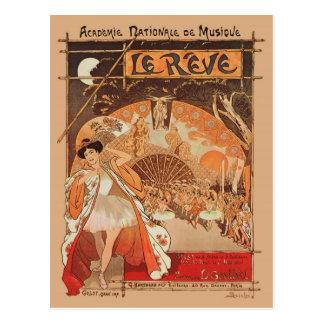 Kunst Nouveau Ballett Steinlen Reve Japaner-Tanz Postkarte