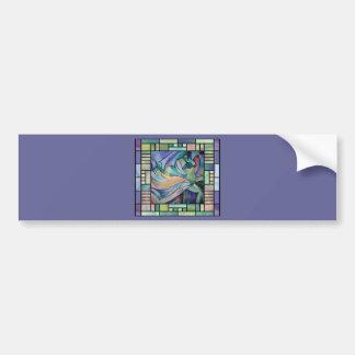 Kunst Nouveau Bellydance (Quadrat) Autoaufkleber