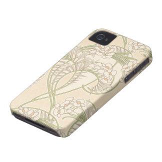 Kunst nouveau Blumenmuster schönen Frühlinges iPhone 4 Hüllen