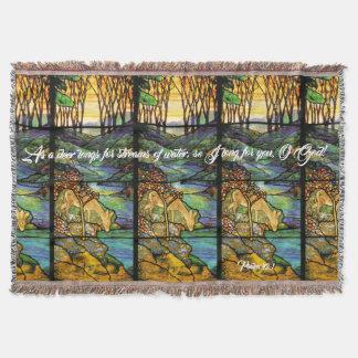 Kunst Nouveau Buntglas-Rotwild-Psalm-Wurfs-Decke Decke