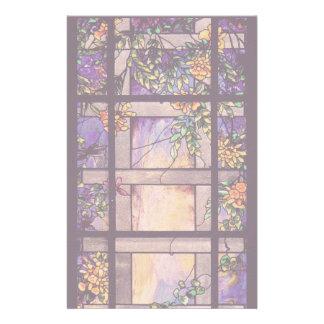 Kunst Nouveau Buntglas-Tiffany-Natur Briefpapier
