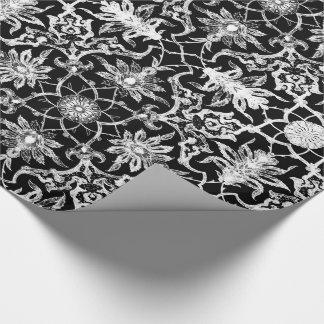 Kunst Nouveau chinesisches Muster - Weiß auf Geschenkpapier