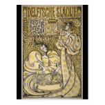 Kunst Nouveau Delftsche Slaolie Delft Postkarte