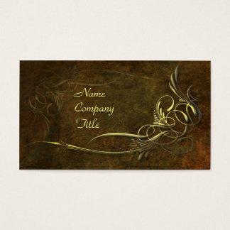 Kunst Nouveau Eleganz Visitenkarte